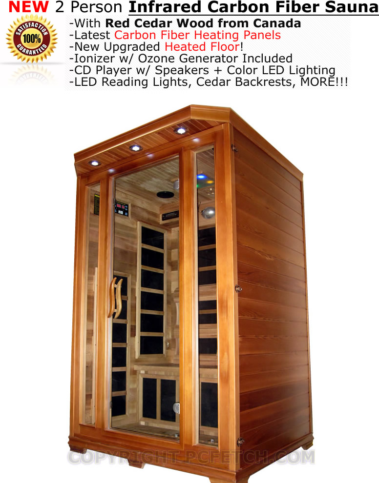 2 person sauna red cedar far infrared carbon heaters floor heater cd player new decorate with. Black Bedroom Furniture Sets. Home Design Ideas
