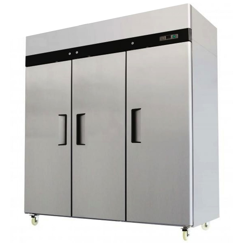 New Commercial Three 3 Triple Door Stainless Reach In Refrigerator Cooler 72 C F Ebay