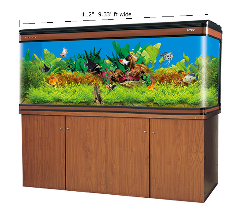 new 300 gallon glass fish tank aquarium w cabinet stand